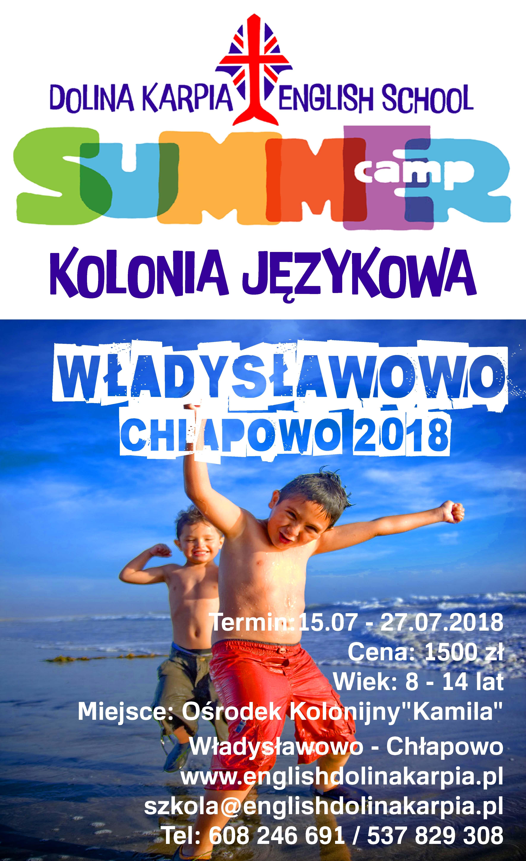 Mini Plakat Kolonia 2018 Copy Dolina Karpia English School