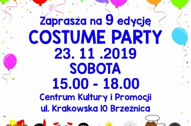 COSTUME PARTY 2019 – 23.11.2019 15.00 – 18.00